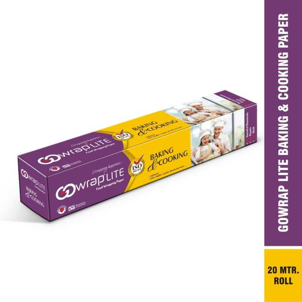 PAQEE Butter Paper for Wrapping Food Roti, Paratha & Baking Cake Cookies, Fish, Chicken & All Baked Item in Oven, Multi Purpose Parchment Paper 20 Meter Roll Parchment Paper Parchment Paper
