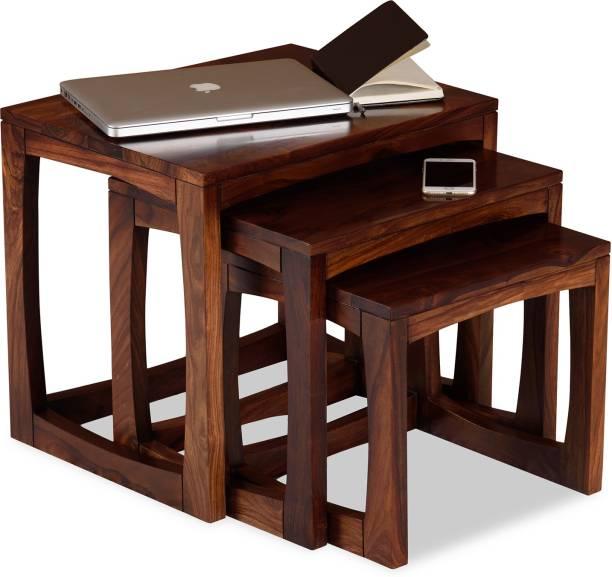 KHETAN Solid Wood Nesting Table