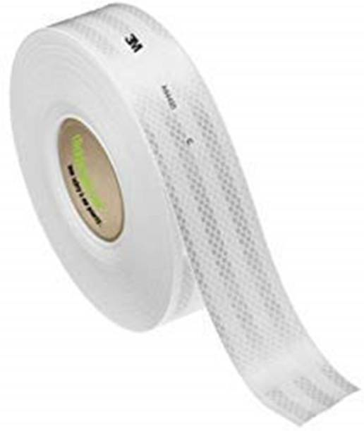 CSGLARE High Intensity Reflective Conspicuity Tape 2 Inch Width X 2 Feet White color 48 mm x 2 m White Reflective Tape