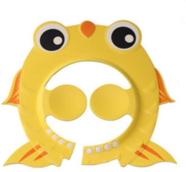 SYGA Fish Shape Adjustable Soft Shower Bath Cap for Baby(Yellow)