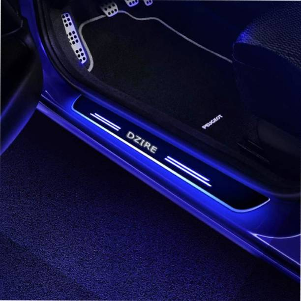 FABTEC Premium High Quality With Mirror Finish Car Foot Step LED Sill Plate Set of 4pcs Door Sill Plate