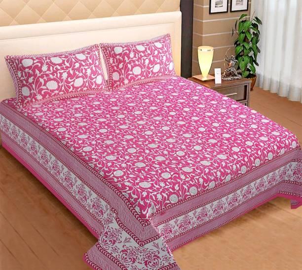 Varsha 240 TC Cotton King Printed Bedsheet