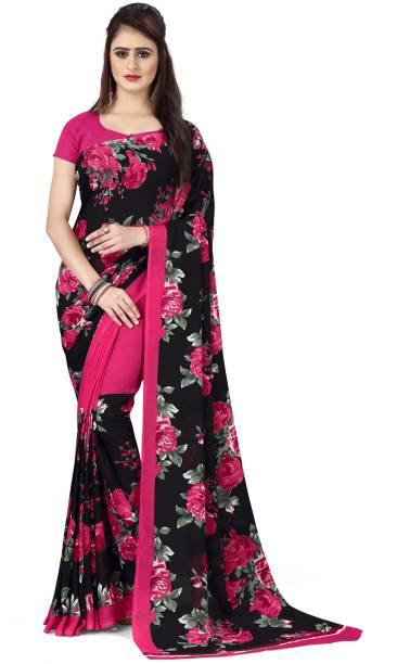 Anand Floral Print Daily Wear Georgette Saree
