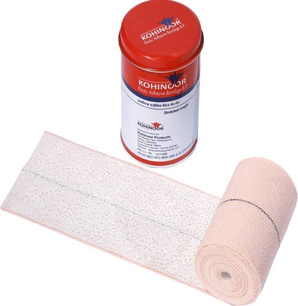 Kohinoor ELASTIC ADHESIVE BANDAGE 10cms X 4/6. STRETCHED LENGTH Adhesive Band Aid