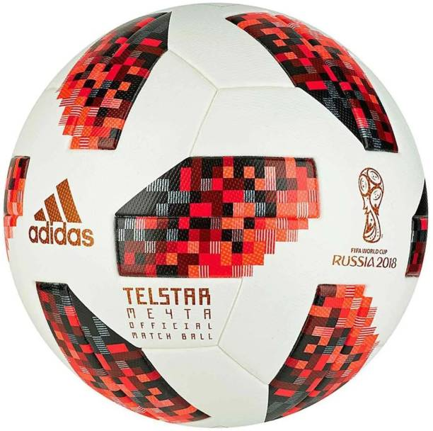 ADIDAS Red Telstar Match Ball Replica Football - Size: 5