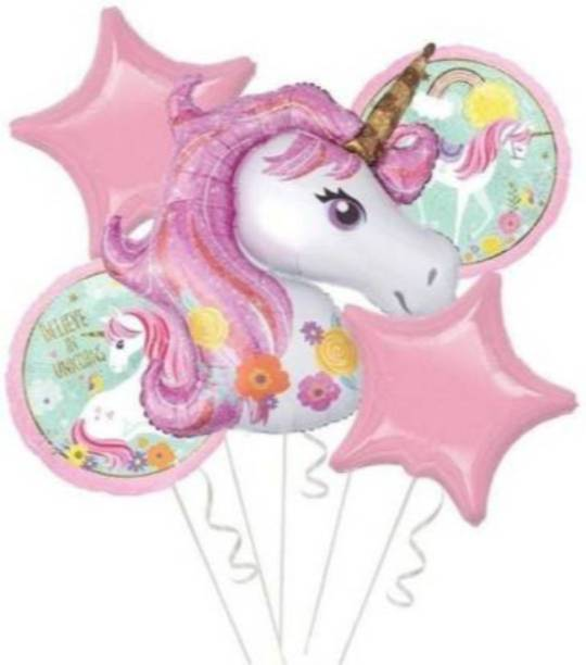 VAISNO Printed Cartoon Unicorn Party Foil Balloon