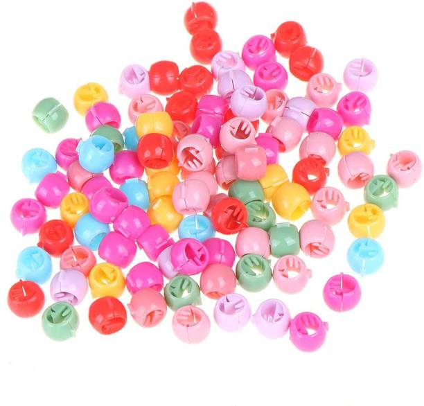 Kidzoo Girls Hair Beads For Stylish Hair For Kids & Girls Women Hair Tie 50 pcs (Multicolour) Hair Clip