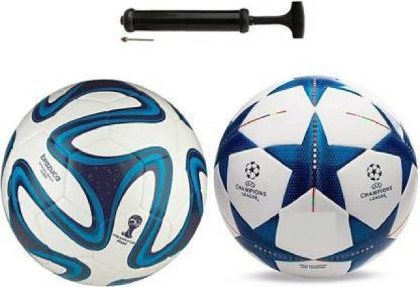 DIBACO SPORTS COMBO TWO COLOR+BLUE STAR FOOTBALL WITH AIR PUMP Football Kit
