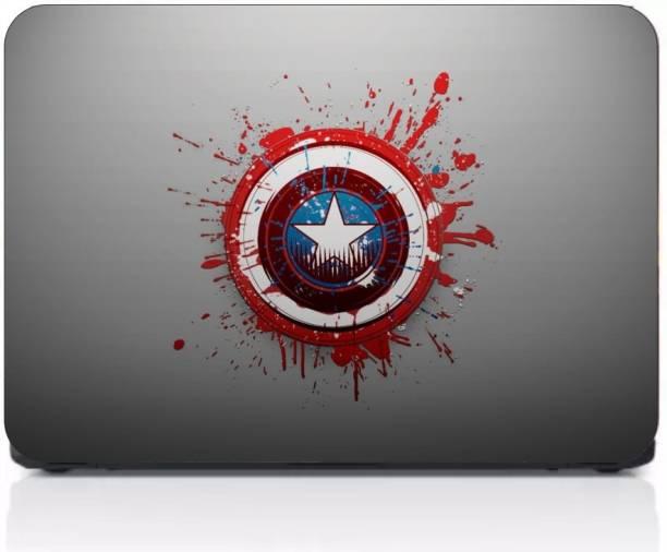 Gprint High & Digital Quality Laptop Laminated Captain America Cover Print vinyl Laptop Decal 15.6