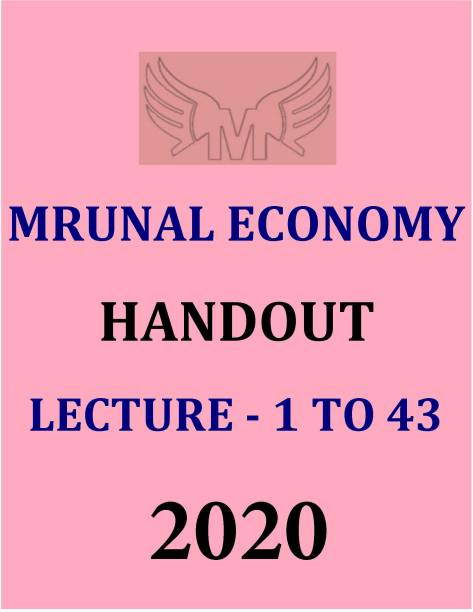 Mrunal Economy Handout Lecture - 1 To 43 -2020