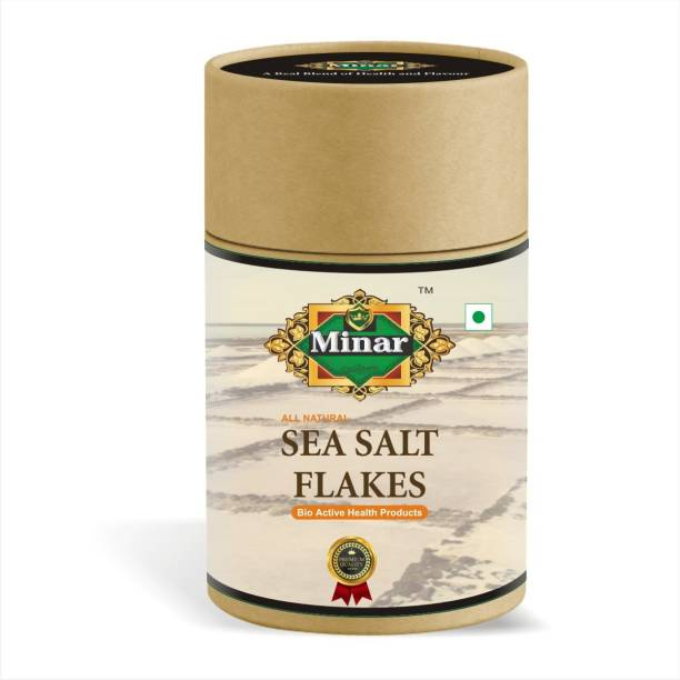 Minar 100% Natural & Organic Sea Salt Flakes - 300gm (Pack of 1) Sea Salt
