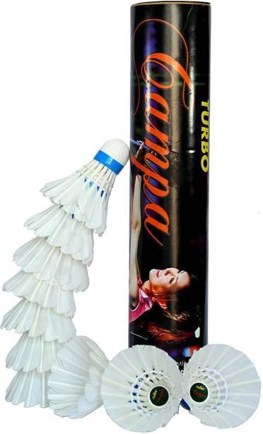 Stonkraft Badminton Shuttlecock - Pack of 10 Feather Shuttle  - White
