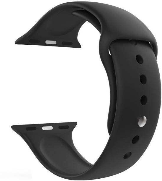 Tingtong Soft Silicone Sport 38mm/40mm Black Smart Watch Strap