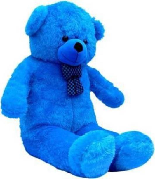 JAI MATA DI 3 feet blue teddy bear best lovely someone special happy birthday - 91.5cm (blue)  - 91.5 cm