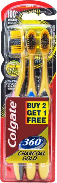 Colgate 360 Charcoal Gold Soft Toothbrush