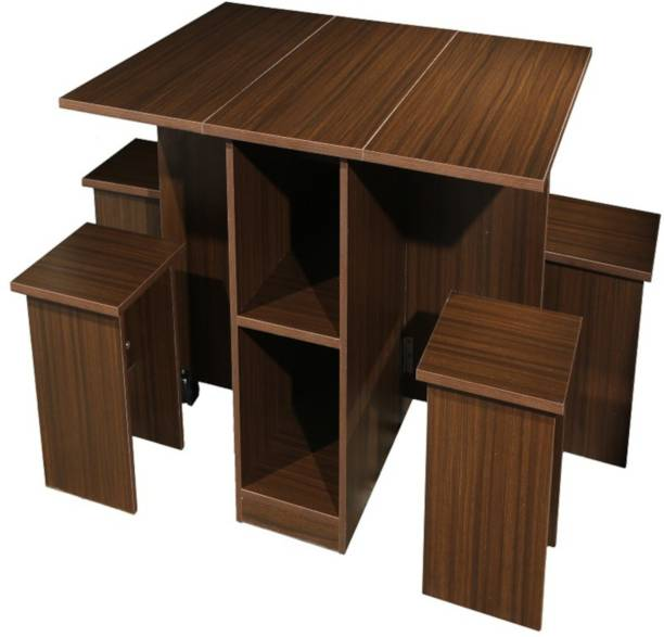 EVOK Butterfly Engineered Wood 4 Seater Dining Set