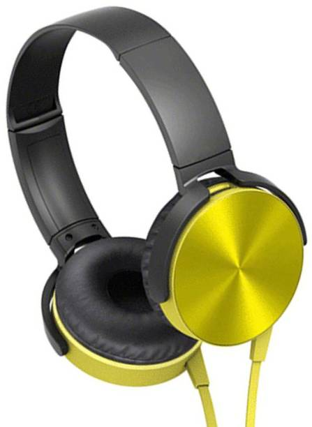 AMUSING Noise Cancelling Extra bass Headphones with foldable Adjustable Wired Headset