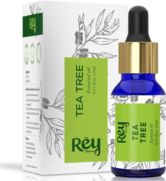 Rey Naturals Tea Tree Oil for Skin, Hair and Acne care - Tea-Tree Essential Oil - 15 ml