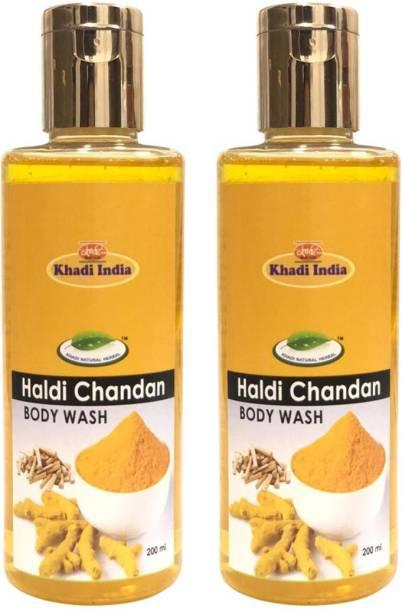 khadi natural herbal Haldi Chandan Body Wash (Pack of 2)