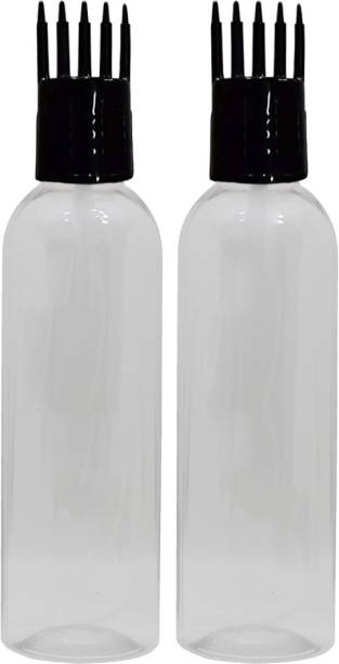 FUTURA MARKET Hair Root Applicator + Flip Top Cap + Plug + Bottle ( Leak Proof ) Pack of 2 100 ml Bottle