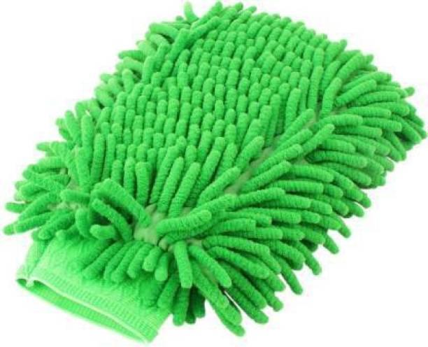 Avlokan Multipurpose Single Sided Microfiber Dusting Cleaning Gloves Mitt for Car Bike Kitchen Bathroom Dish Window Glass Wet and Dry Glove