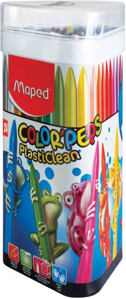 Maped 24 Plastic Crayon Tin Pack