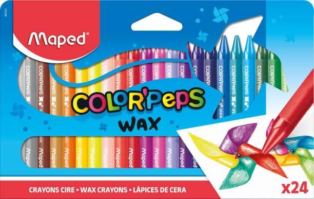 Maped Color'Peps Wax Crayons 24 Shades