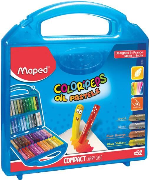 Maped Oil Pastels Plastic Box 52 Shades