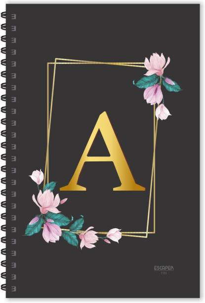 ESCAPER A letter diary (Ruled - A5), A initial Diary, A alphabet diary A5 Diary Ruled 160 Pages