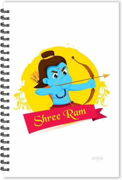 ESCAPER Shree Ram kids cartoon Diary (Ruled - A5 Size), God Diary, Devotional Diary A5 Notebook Ruled 160 Pages