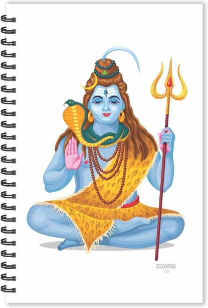 ESCAPER Lord Shiva Diary (Ruled - A5 Size), Shiv Diary, Devotional Diary, God Diary A5 Notebook Ruled 160 Pages