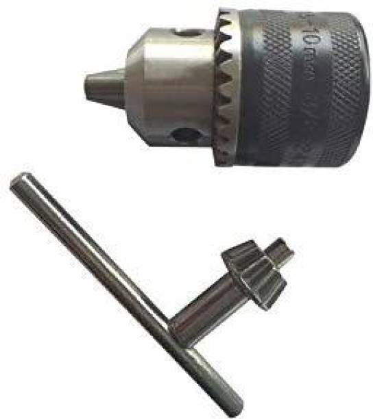 TRUMAX Drill chuck with key 10mm withThread 3/8-24 UNF Drill chuck with key 10mm