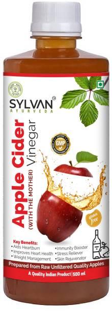 SYLVAN AYURVEDA Apple Cider Vinegar - Raw, Unfiltered,Unpasteurized Premium Apple Cider Vinegar with 'The Mother' - 500ml I