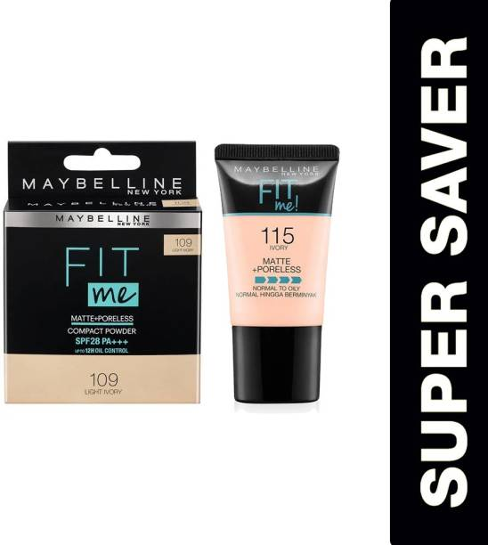 MAYBELLINE NEW YORK Fit me foundation tube 115 + fit me compact 004 Foundation
