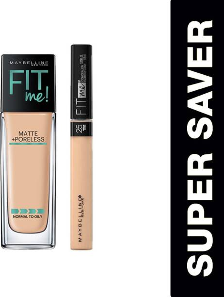 MAYBELLINE NEW YORK Fit me foundation 128 and Fit me concealer 25 Foundation
