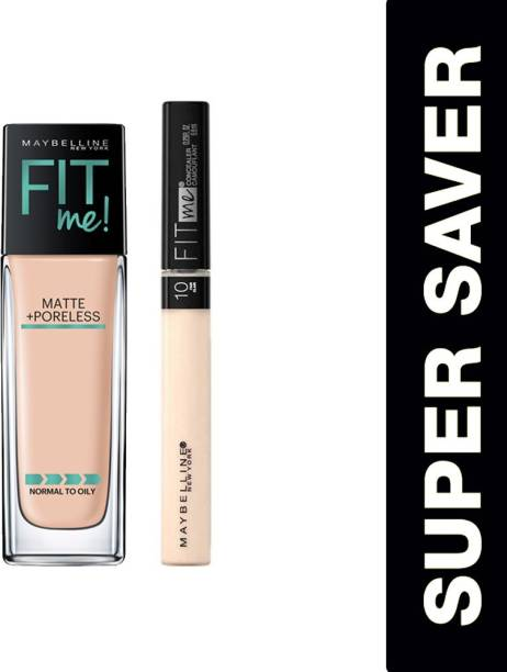 MAYBELLINE NEW YORK Fit me foundation 115 and Fit me concealer 10 Foundation