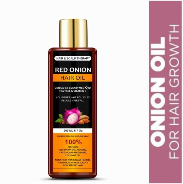 Manarya Sun's Heart Hair & Scalp Therapy Red Onion Hair Oil With Omega 3 & Co Enzymes Q10 Hair Oil
