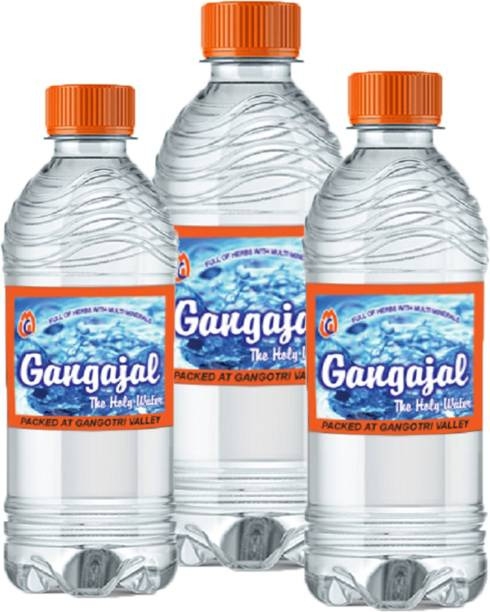 Gangajal 1 Litre x 3 Bottles = 1 Box Ganga jal 100% Pure and Natural from Deep Himalayas/Approved by Uttarakhand Govt./Pack of 3 Bottles containing 1 Litre Ganga al in one Bottle