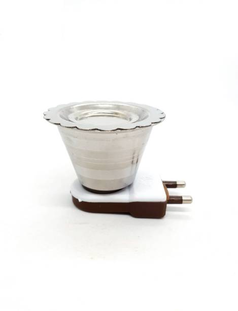 MDTL MAYUKH Electric Stainless Steel Kapoor Dani Stand for Home Office Temple GOD Puja & Staying Healthy Stainless Steel Incense Holder