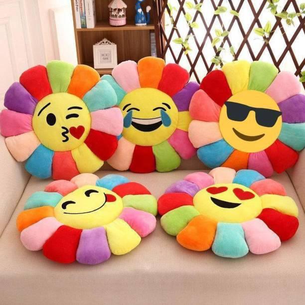 Harilaj Microfibre Smiley Cushion Pack of 5