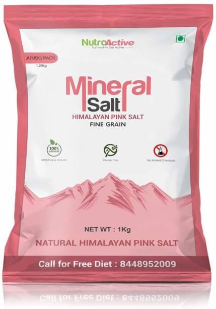 NUTROACTIVE MineralSalt Himalayan Pink Rock Salt Fine Grain 1Kg Himalayan Pink Salt