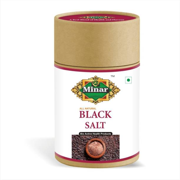 Minar 100% Natural & Organic Black Salt (Kala Namak) Powder – 300gm Black Salt