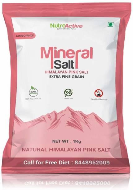 NUTROACTIVE MineralSalt Himalayan Pink Rock Salt Extra Fine Grain - 1 kg Himalayan Pink Salt