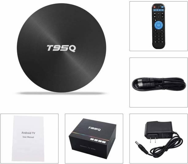 VIBOTON T95Q Android TV Box 9.0 4GB RAM 32GB ROM Set Top Box Amlogic S905X2 Quad-core Cortex-A53 Bluetooth 4.1 HDMI 2.1 4K Resolution H.265 2.4GHz&5GHz Dual Band WiFi Smart OTT Box Media Streaming Device