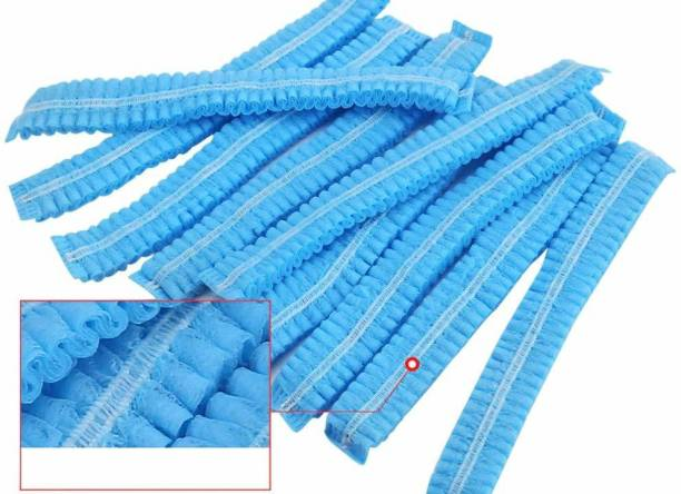 Sanchi Creation Disposable Cap Stretchable Caps - Head Cover Hair For Cooking & Hygiene, Surgical Caps (100 Pieces)