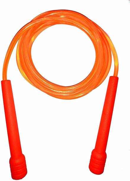 Street Brand Orange Pencil Skipping-Rope for Men, Women, Weight Loss, Best in Fitness, Exercise Freestyle Skipping Rope