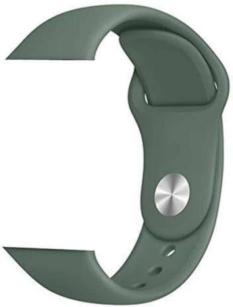 Big Wings Soft Silicone Sport Strap Band for Apple Watch Series 5, Series 4, Series 3, Series 2, Series 1 / Soft Silicone Waterproof Strap for Apple iWatch 42 MM / 44 MM (Pine Green) (Watch Not Included) Smart Watch Strap