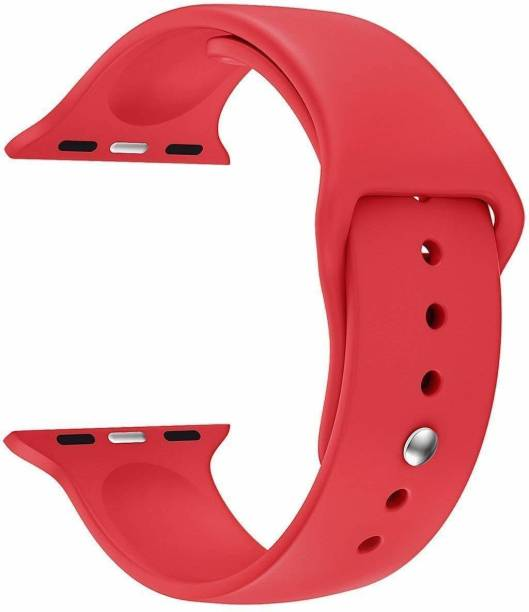Big Wings Soft Silicone Sport Strap Band for iWatch Series SE/6/5/4/3/2/ 1 Soft Silicone Waterproof Strap for iWatch 42 MM / 44 MM Smart Watch Strap