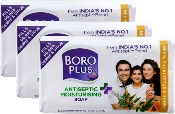 BOROPLUS Antiseptic + Moisturising Soap - Neem, Eucalyptus & Honey