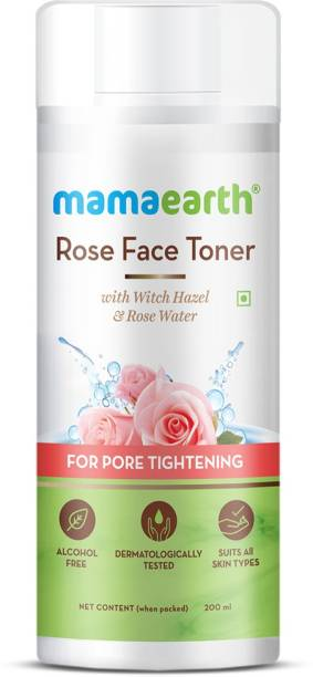 MamaEarth Rose Water Face Toner with Witch Hazel & Rose Water for Pore Tightening Men & Women